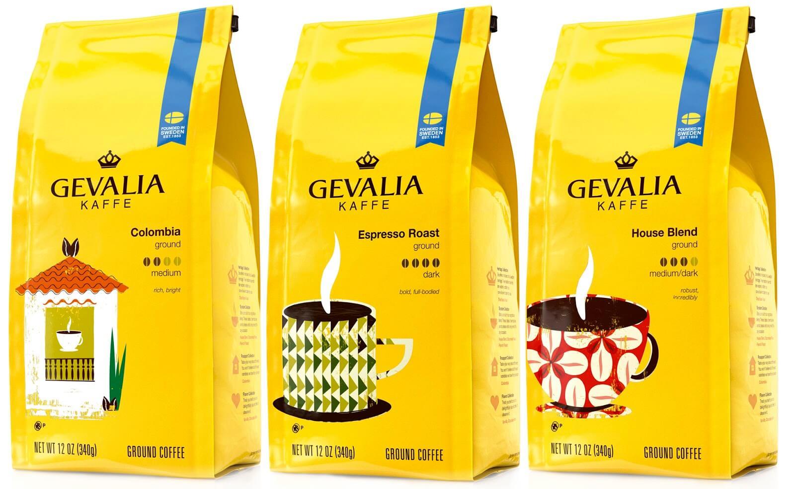 Местный кофе Gevalia