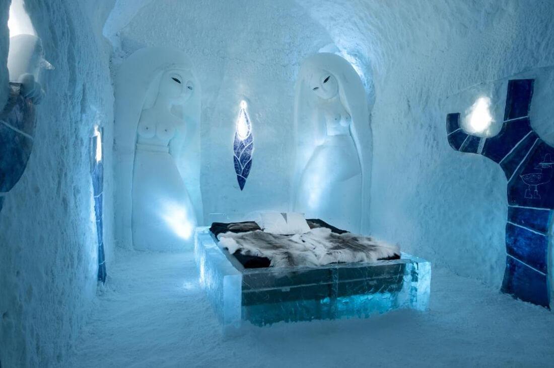Одно из помещений Ледяного отеля