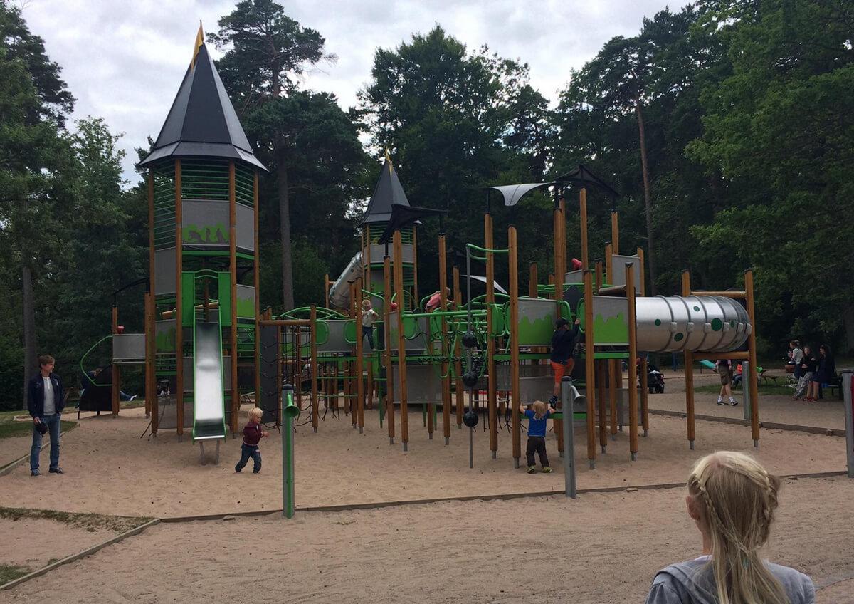 Детская игровая площадка в Jönköpings Stadspark