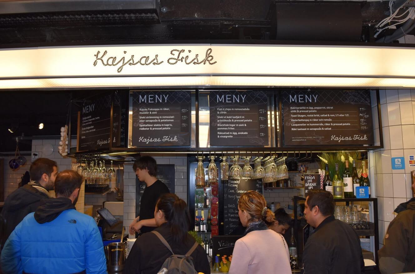 Меню в ресторане Kajsas Fisk