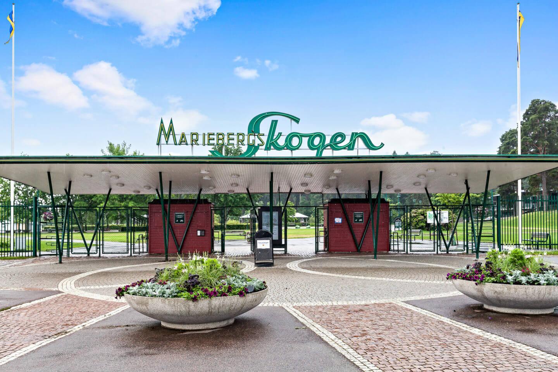 Вход в парк «Mariebergsskogen»