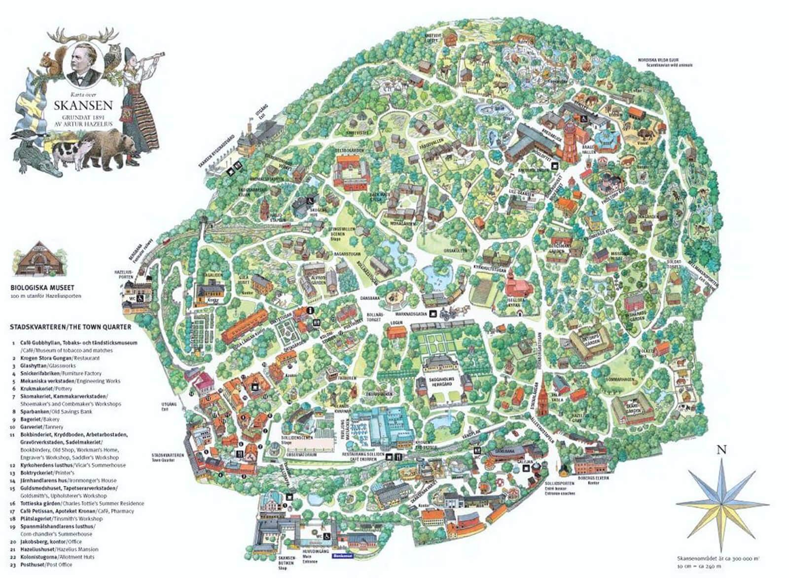 Карта музея Скансен