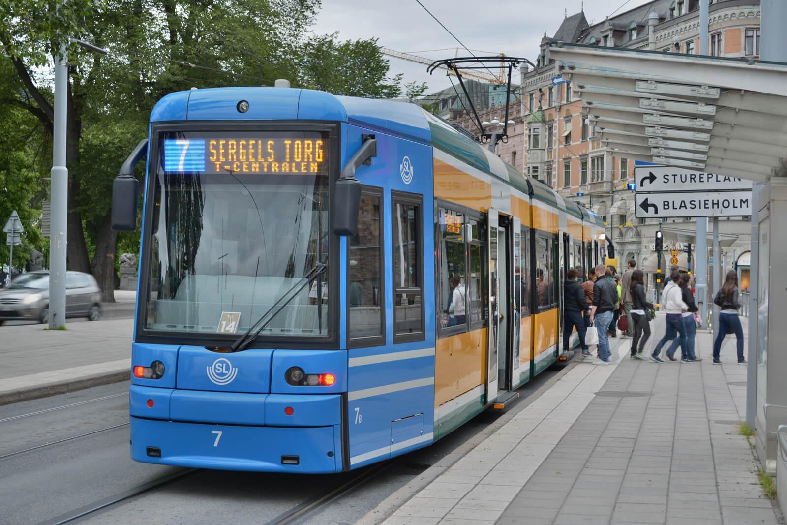 Трамваем №7 до остановки Djurgårdsbron