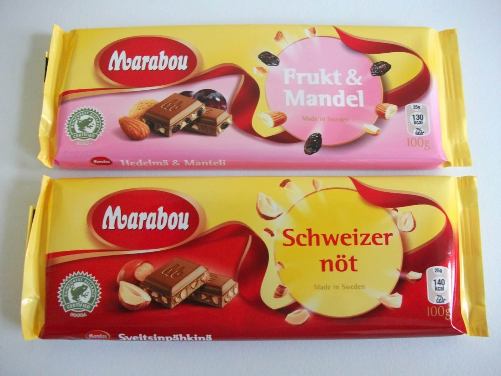 Шоколадки Marabou