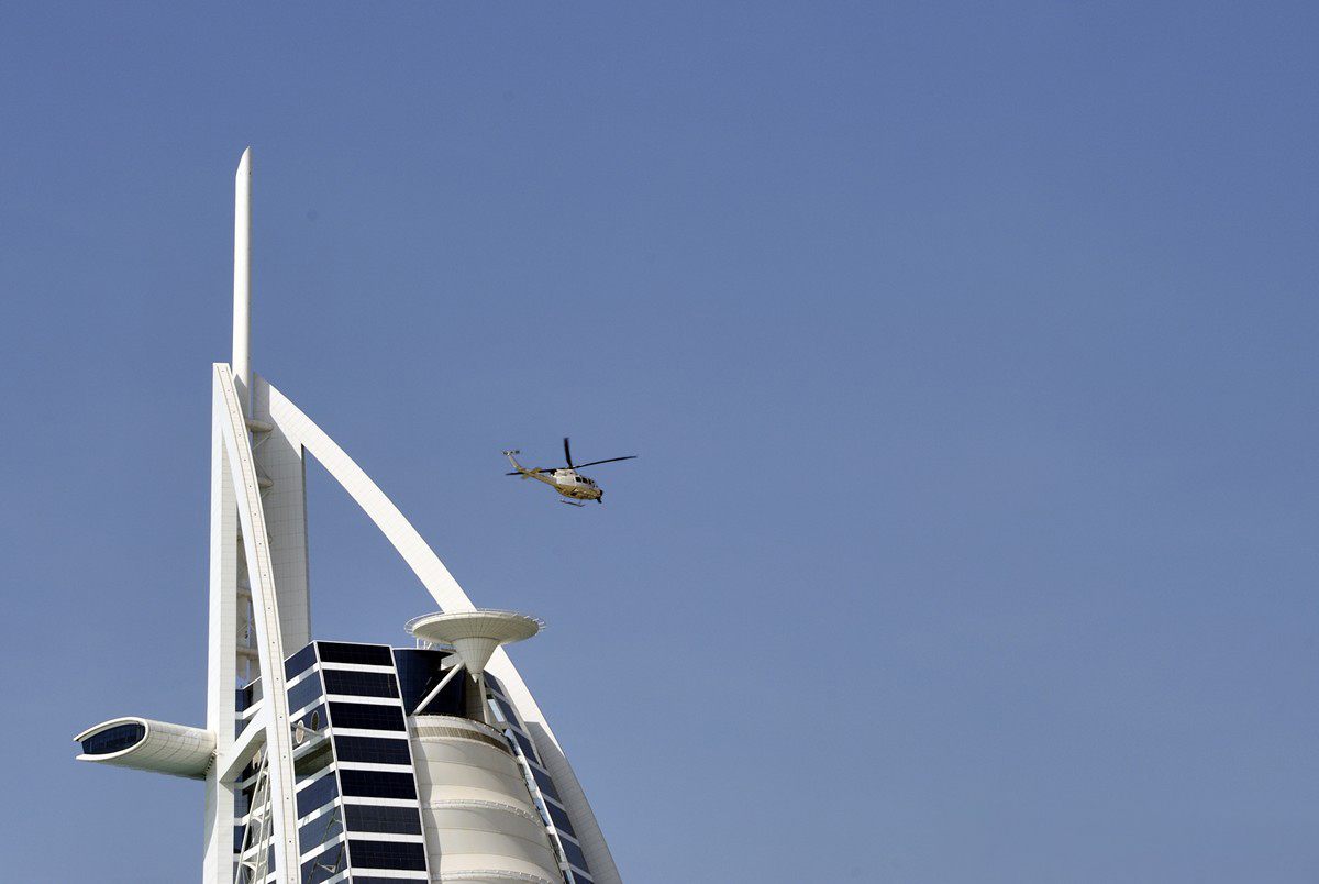 «Бурдж-аль-Араб» имеет собственную вертолётную площадку