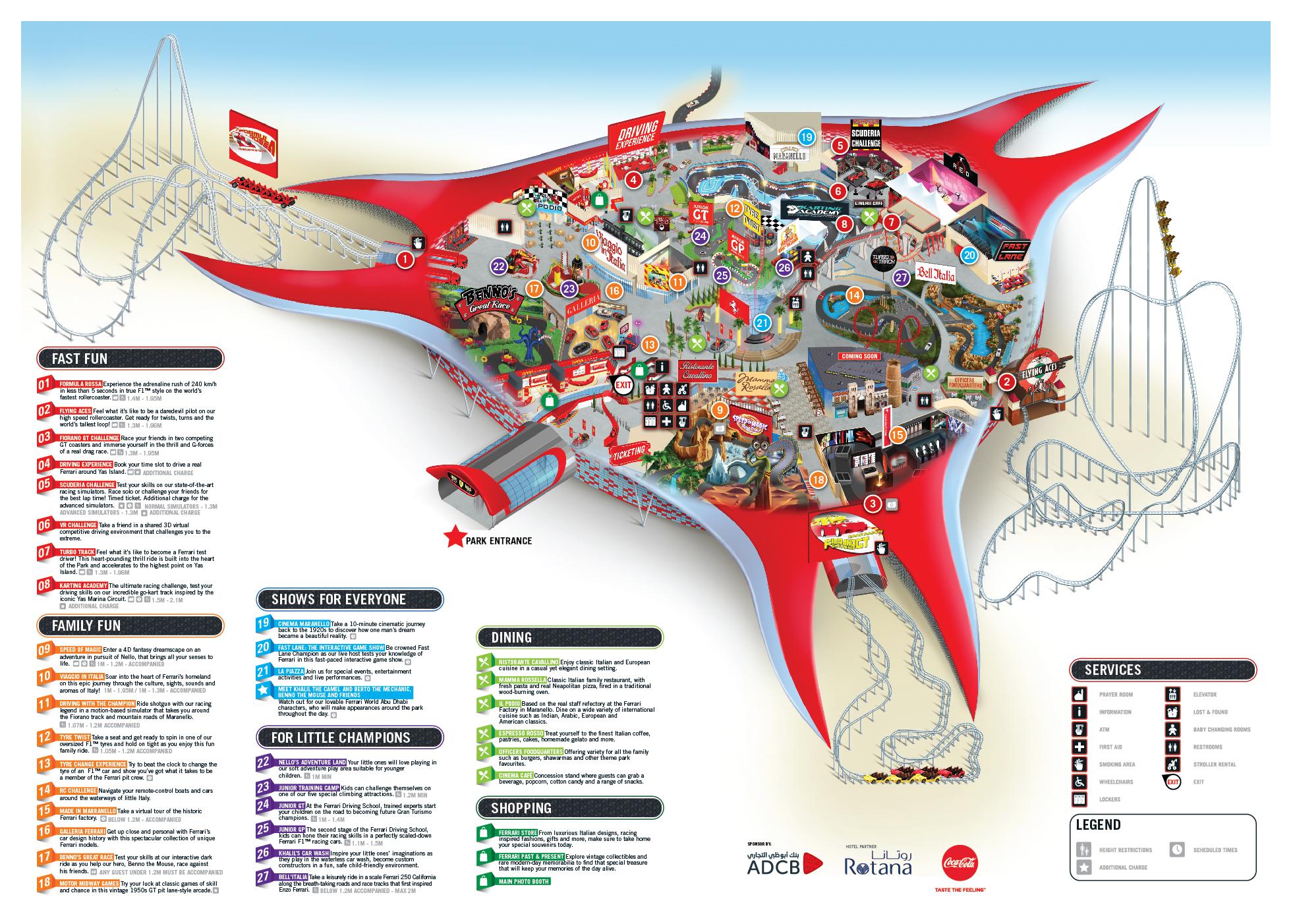 Карта «Ferrari World»