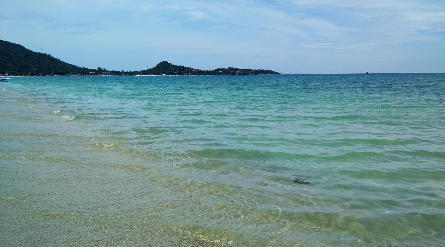 Вход в море пляже Ламай