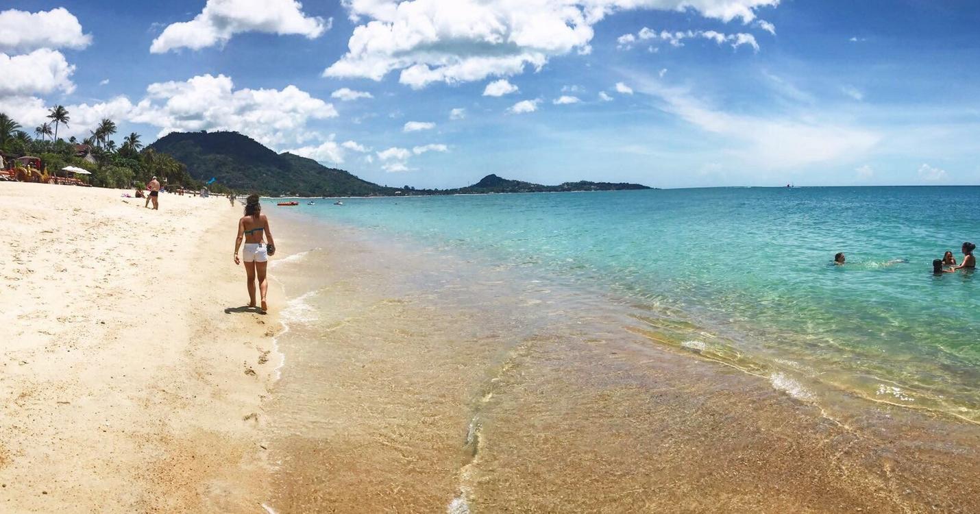 Правая частьпляжа Ламай