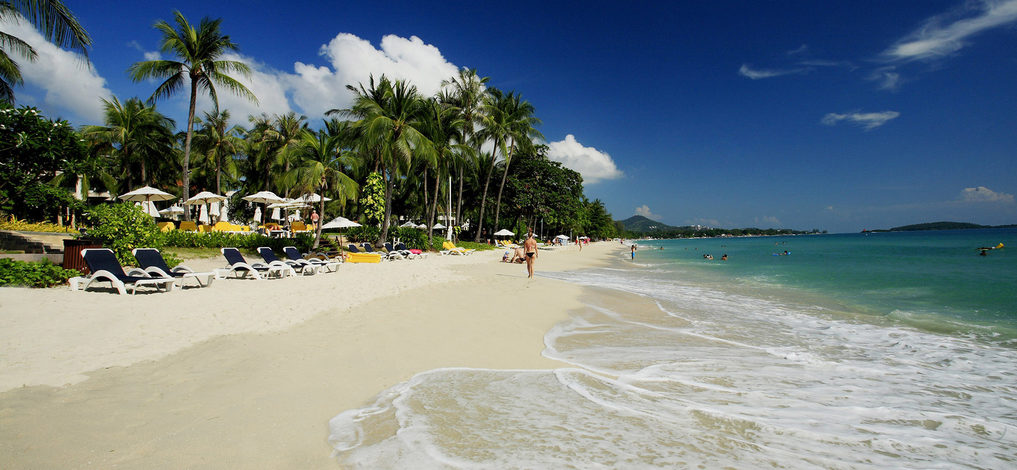 Пляж при одном из отелей
