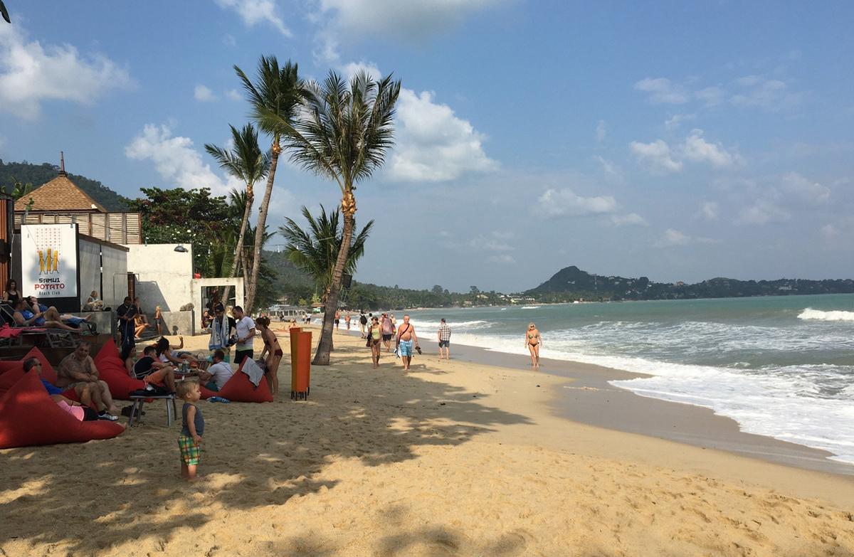 Центральный часть пляжа Ламай
