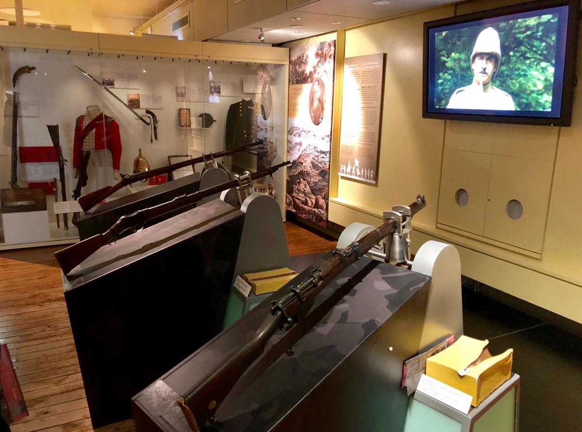 В музее представлена ирландская армия