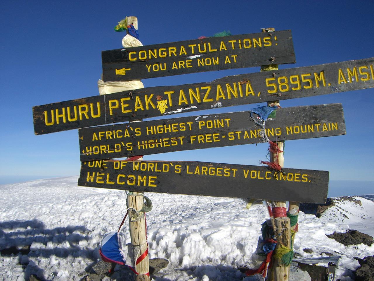 Вершин вулкан Килиманджаро