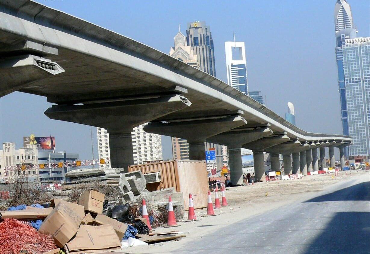 Строительство моста метро в 2007 году