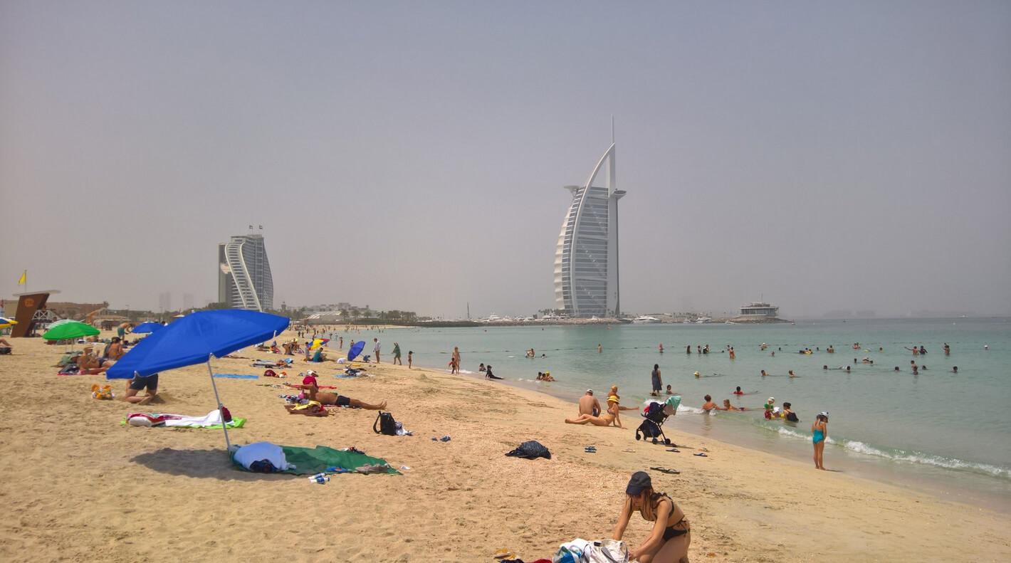 Открытый пляж Джумейра