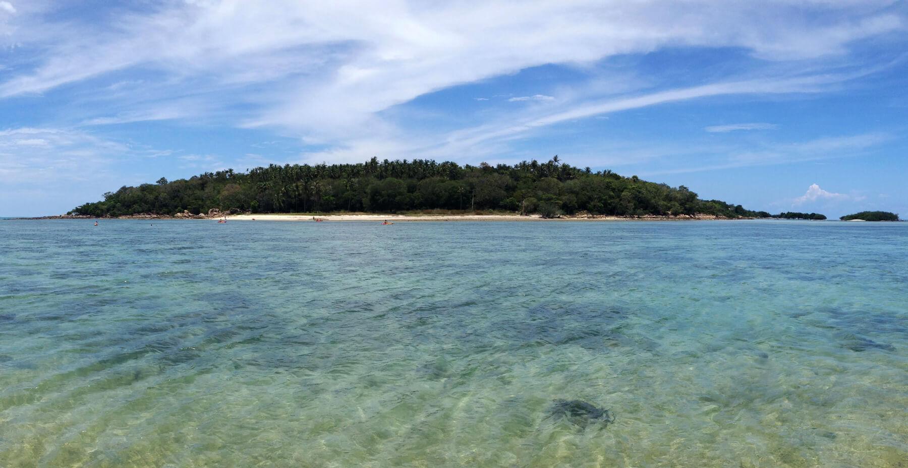 До острова Koh Matlang можно дойти вброд