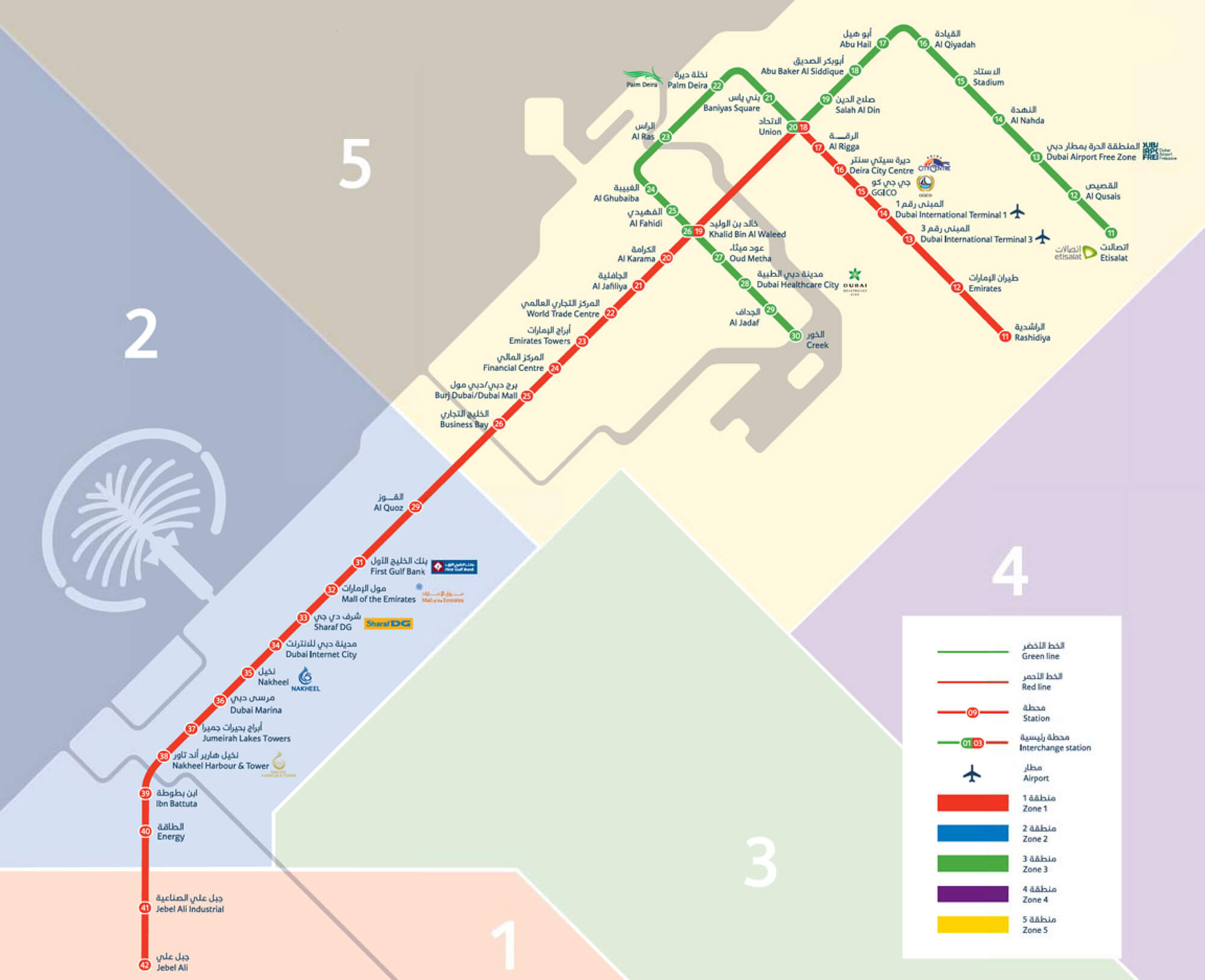 Территориально Дубай поделен на шесть зон