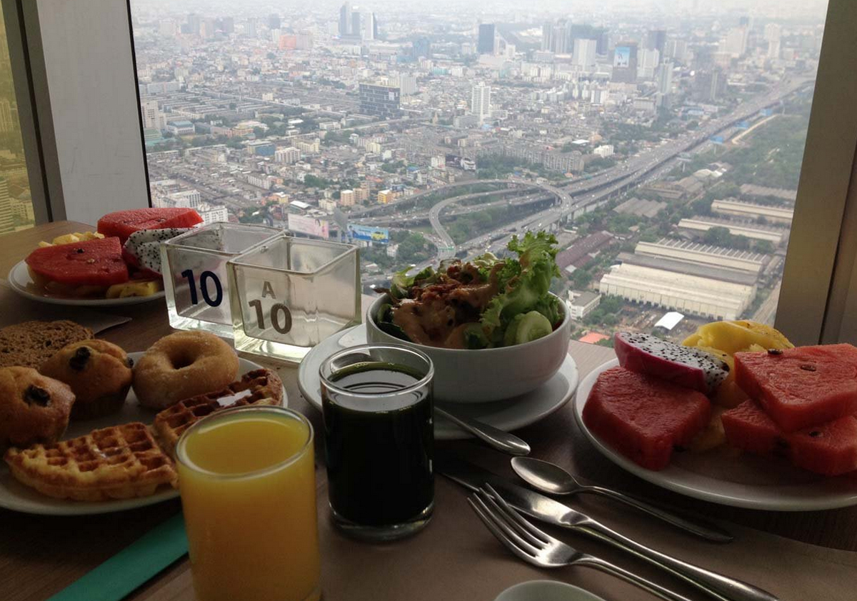 Завтрак в отеле Baiyoke Sky