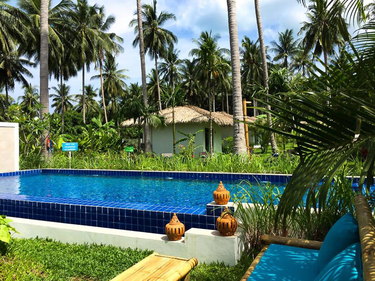 В распоряжении гостей открытый бассейн
