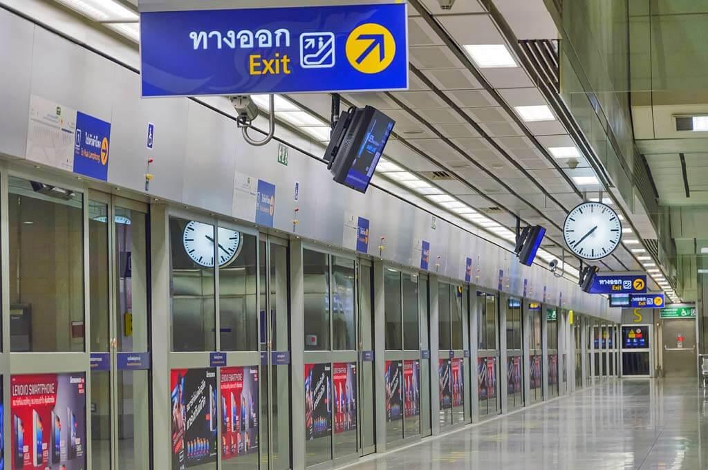На станции метро Бангкока