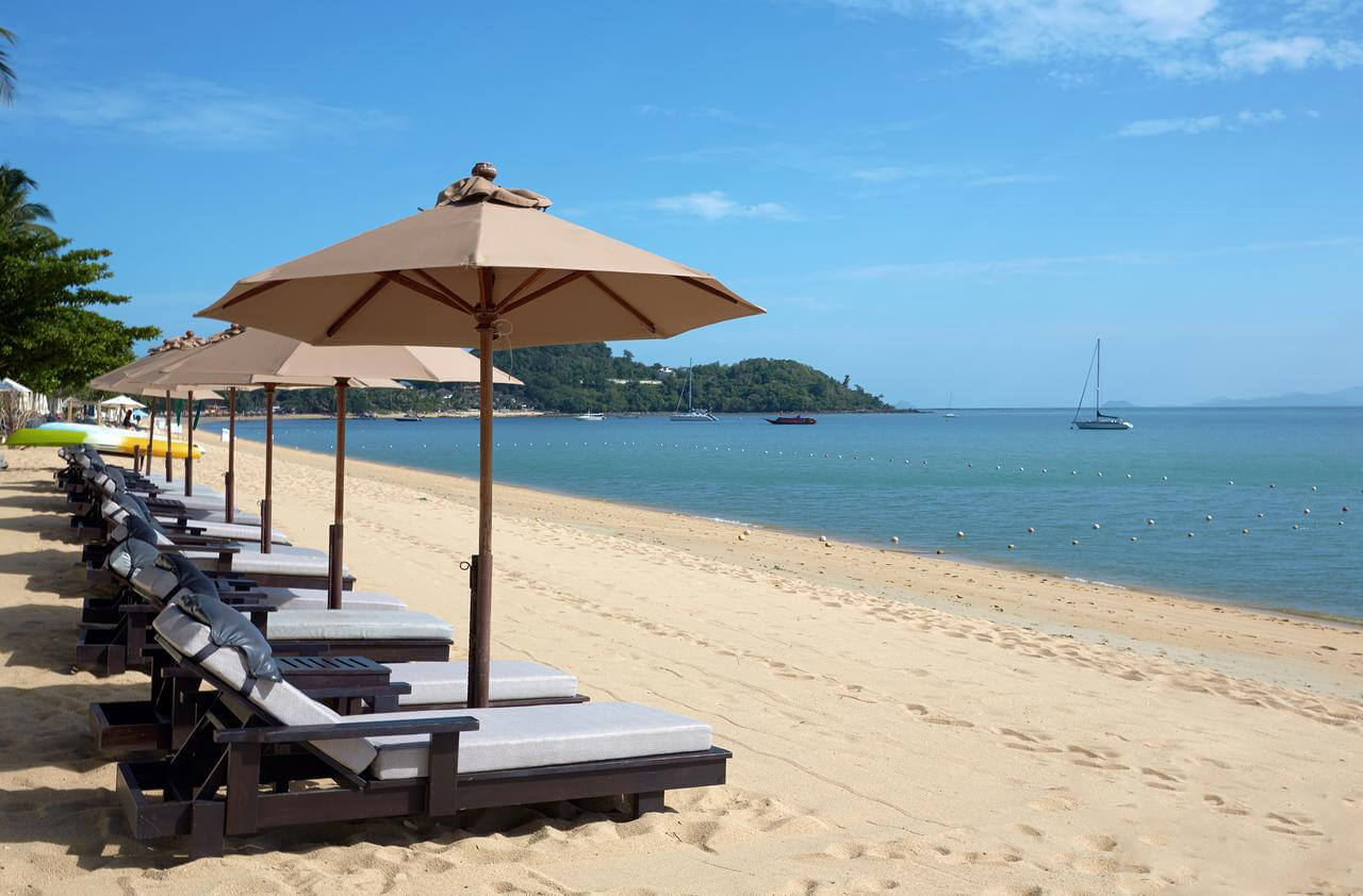 Собственный пляж Bo Phut Resort and Spa