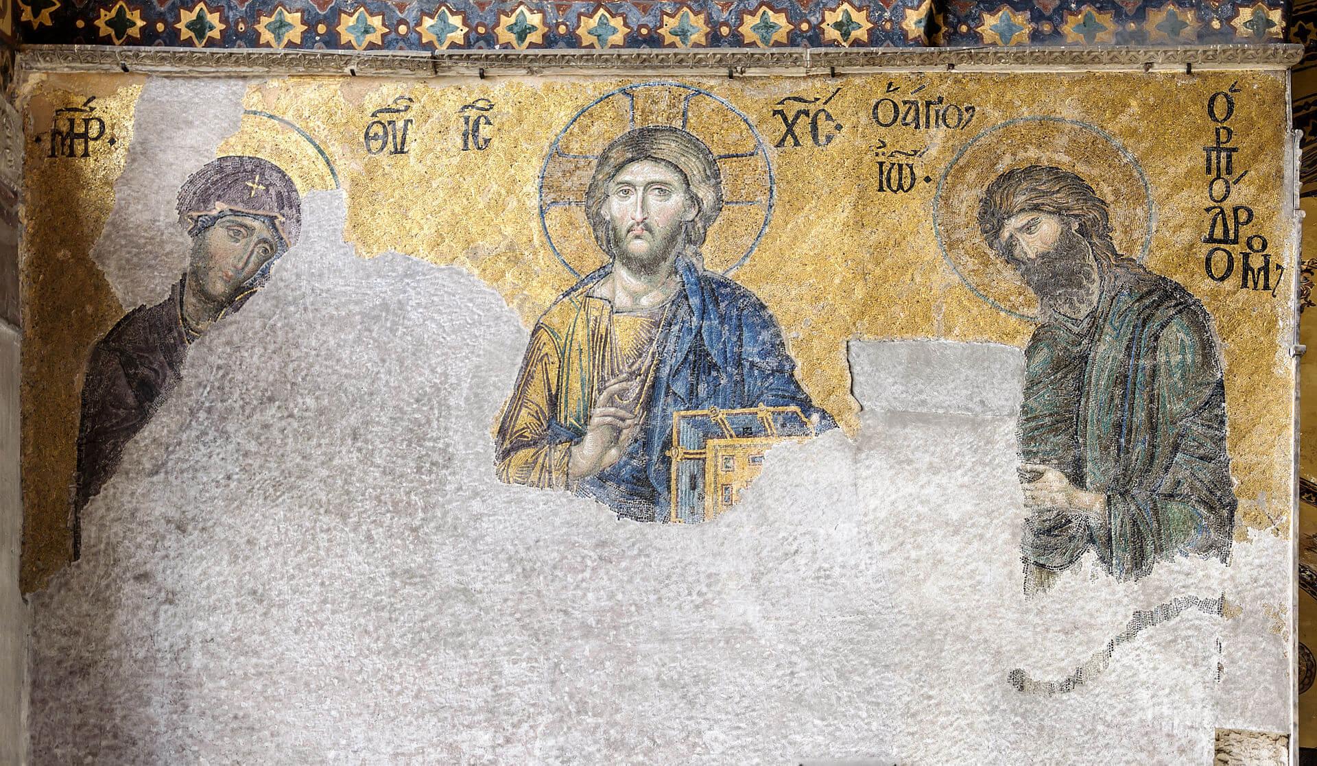 Проводились работы по восстановлению мозаик и фресок