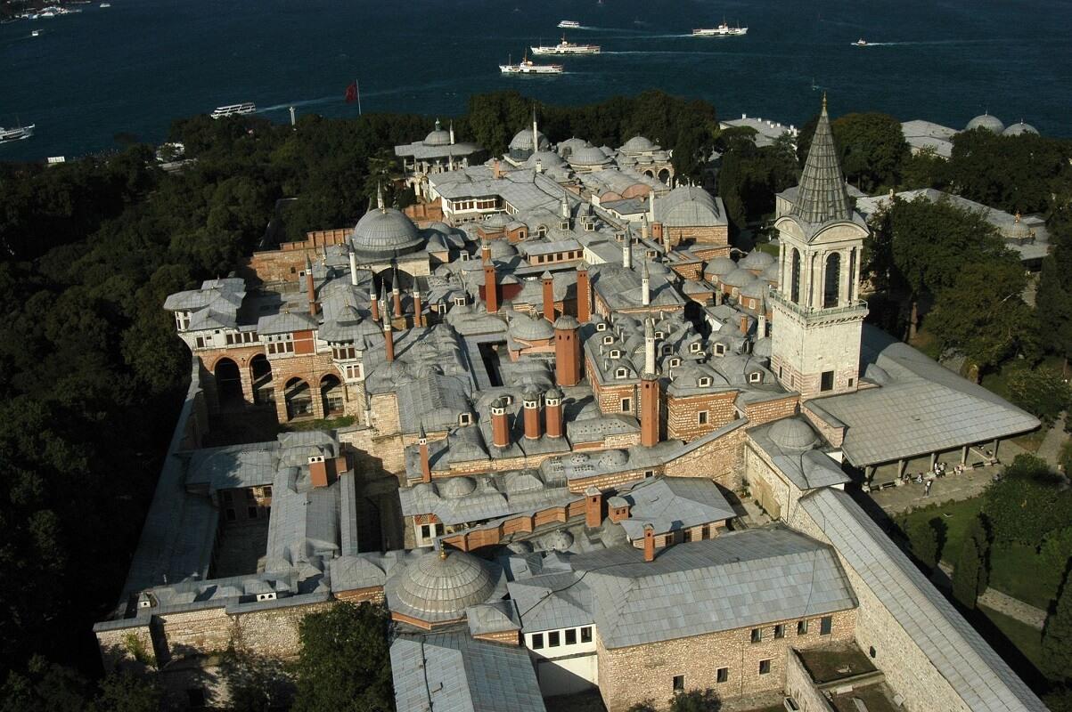 Вид с воздуха на дворец Топкапы