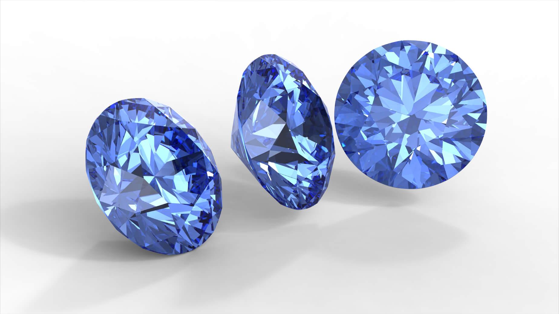 Ювелирные изделия с «голубым алмазом»