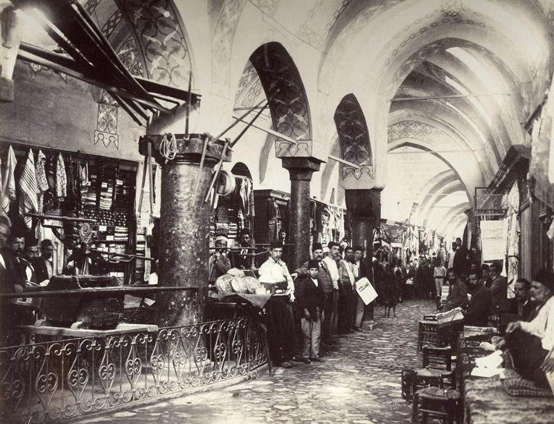 Гранд базар в Стамбуле в 1890 году