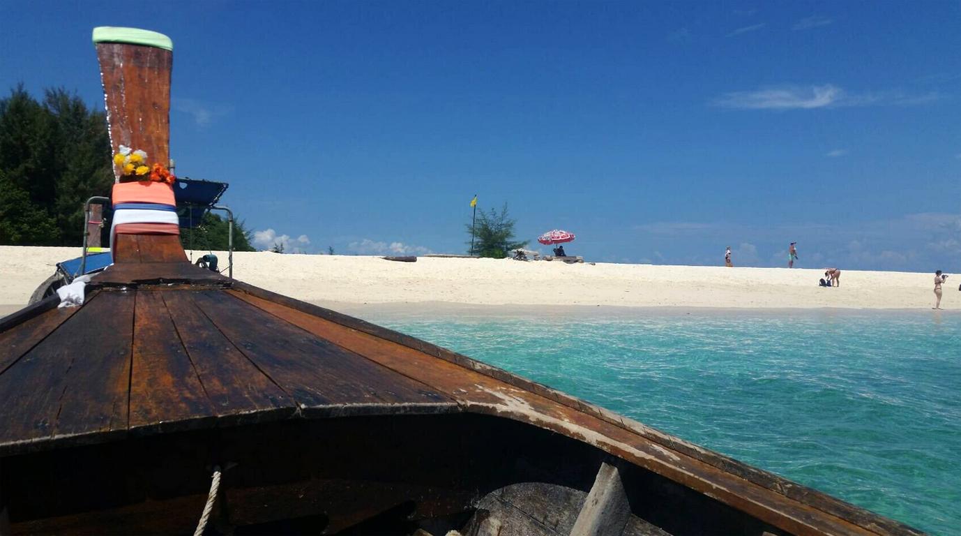 Подплываем к острову Бамбу