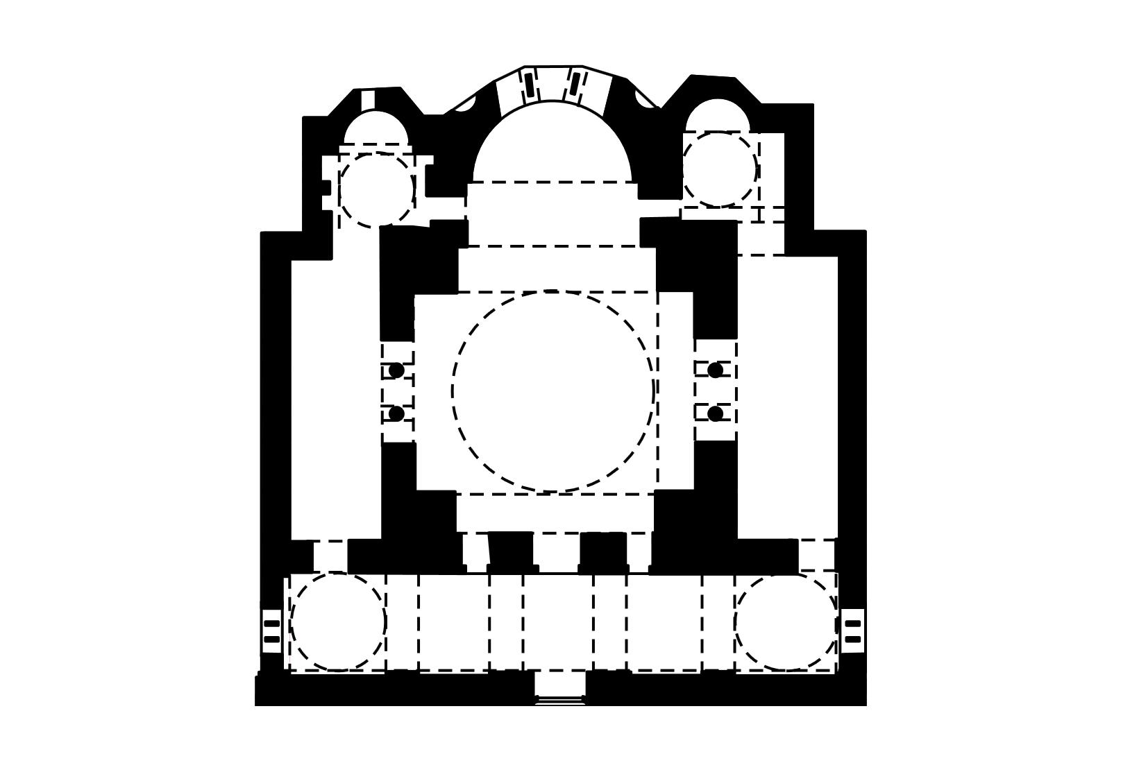 Первоначальный план церкви Хора