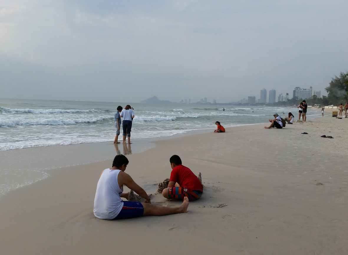 Центральный участок городского пляжа Хуахина