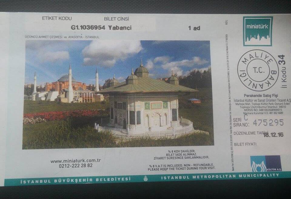 Билет в парк миниатюр в Стамбуле