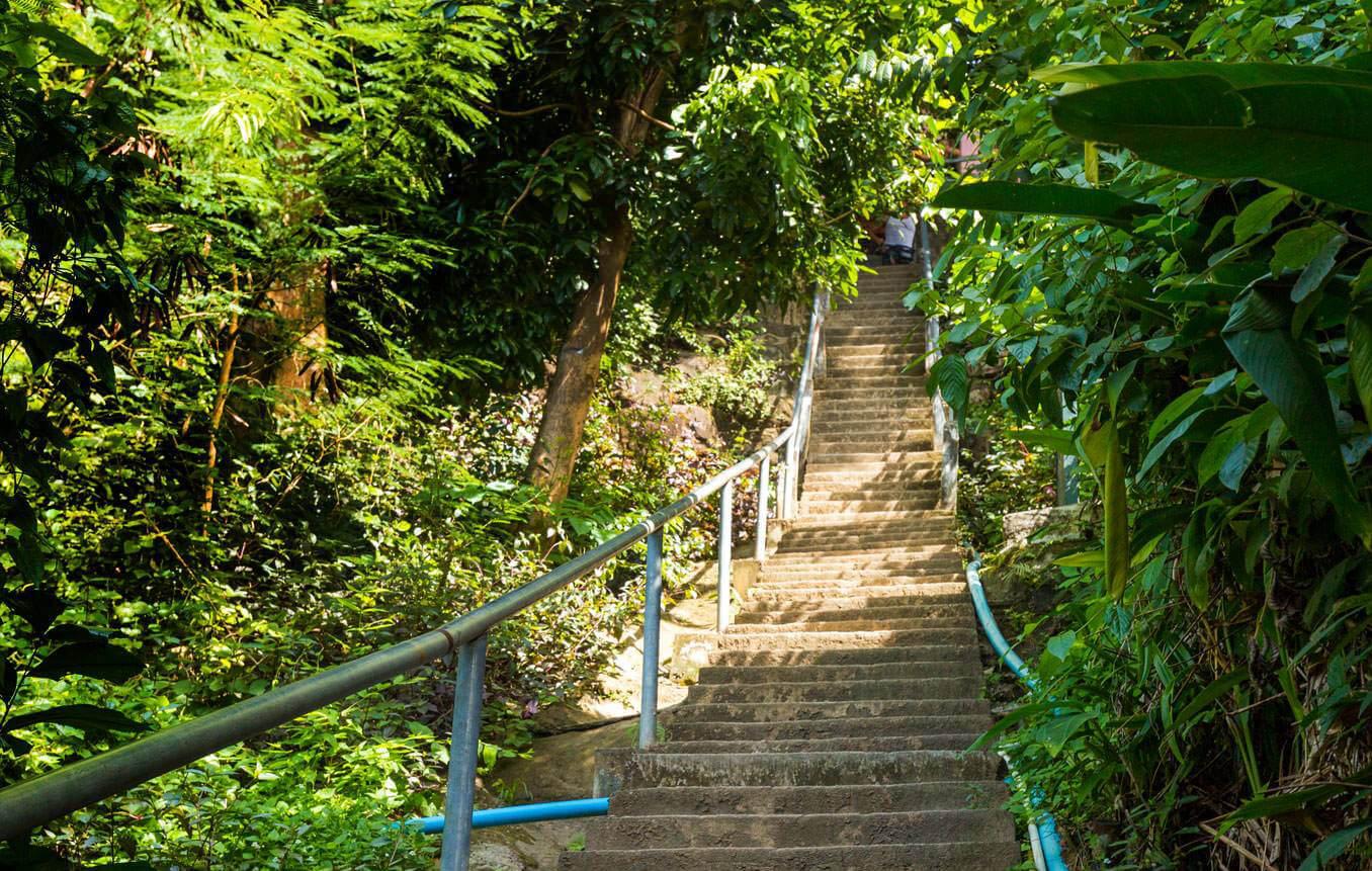 Бетонная лестница на View point