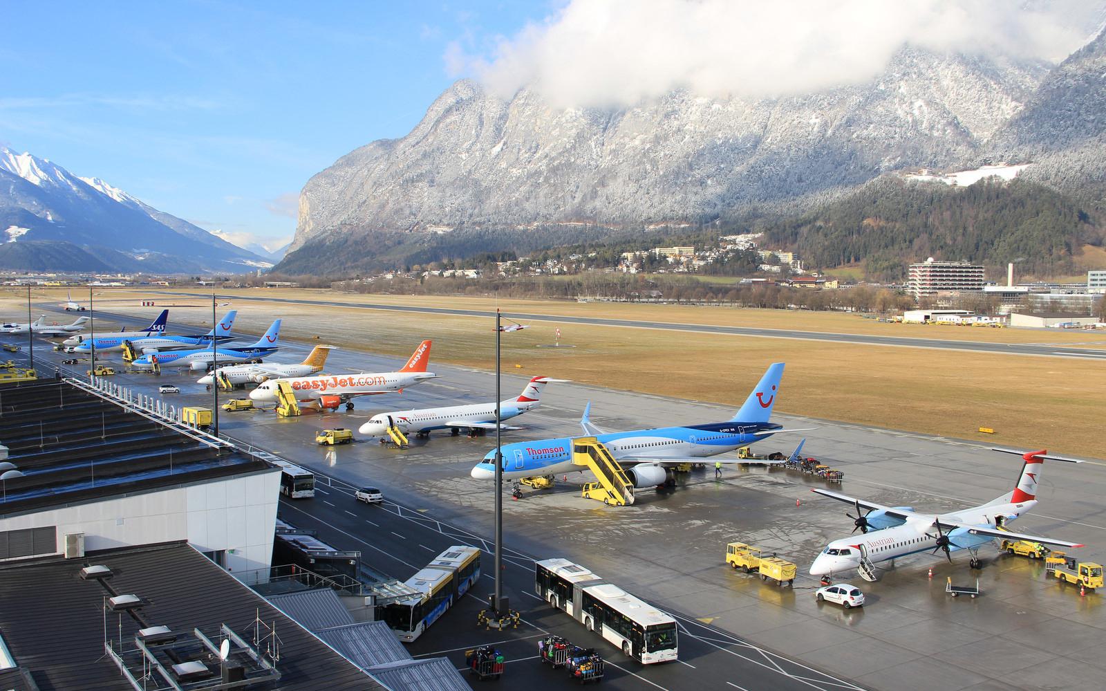 В аэропорту Инсбрука