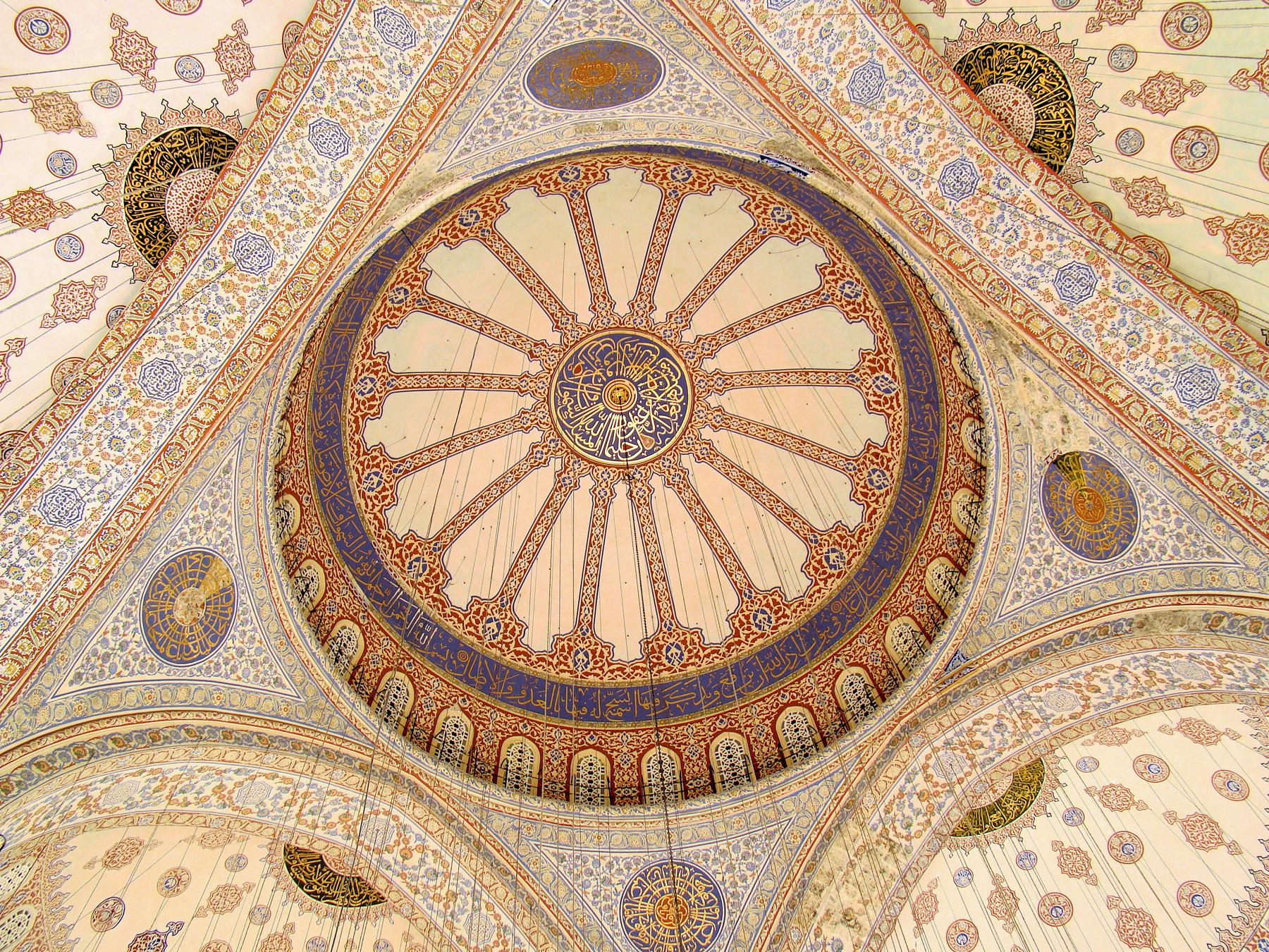 Главный купол Голубой мечети