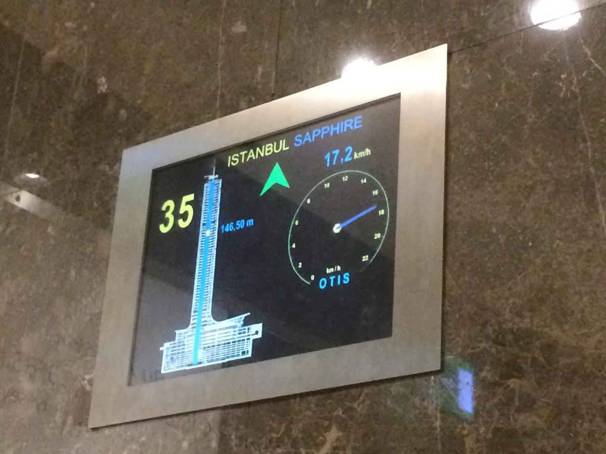 В скоростном лифте