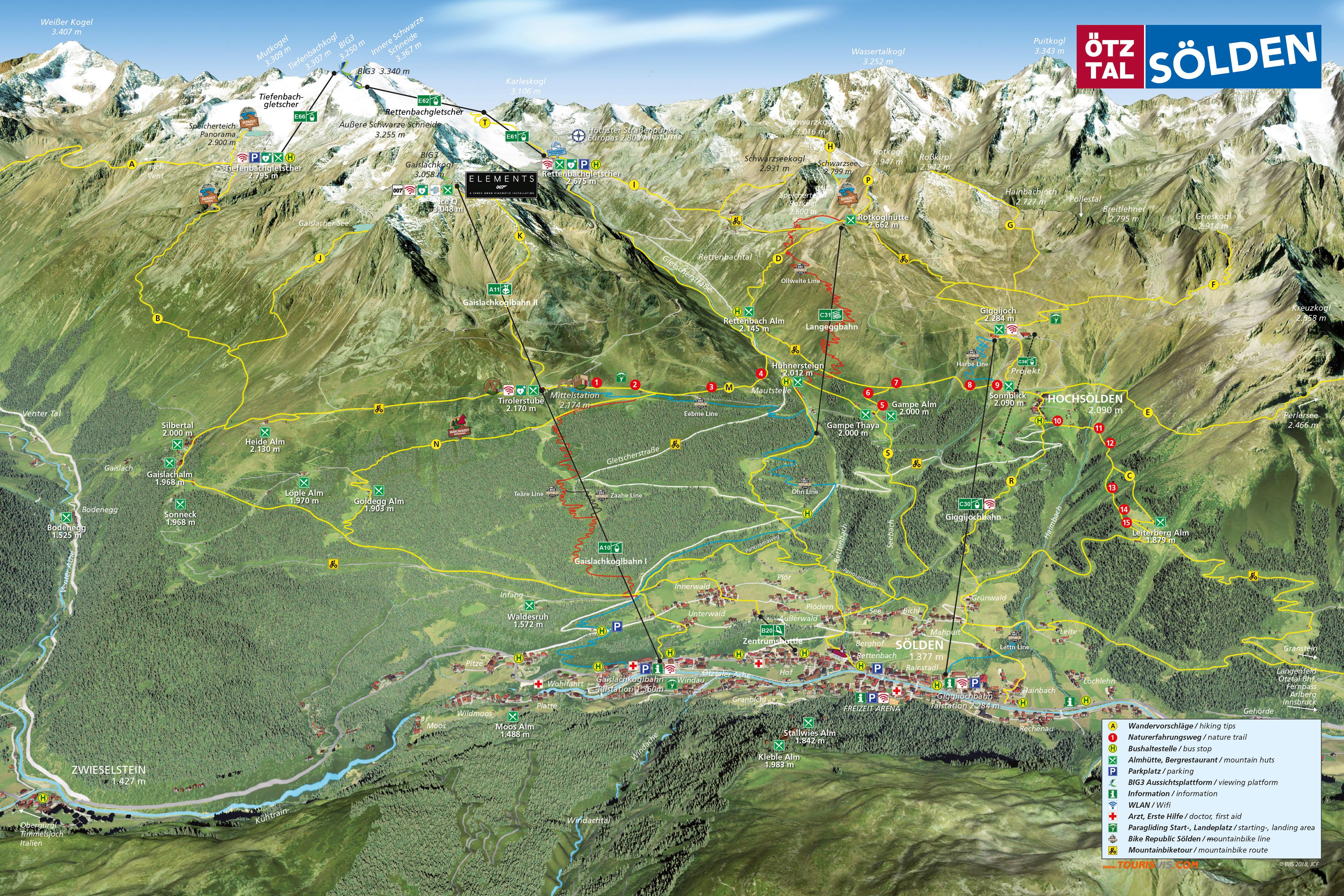 Карта трасс Зёльден