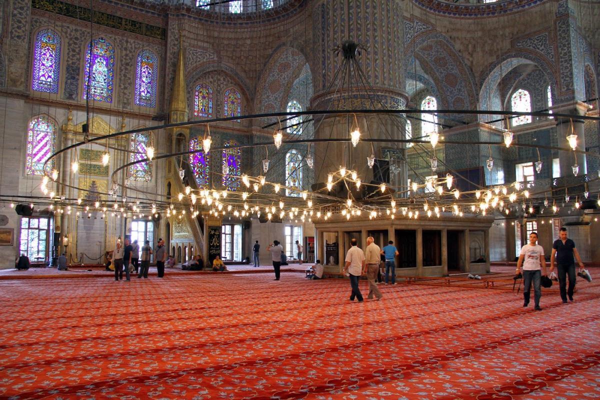 Ковры в Голубой мечети
