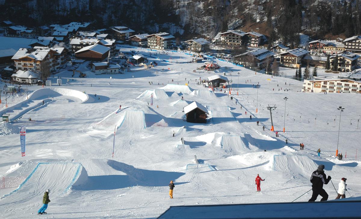 Место для катание на сноуборде