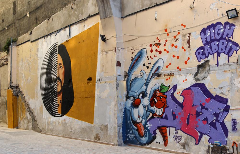 Много интересных граффити