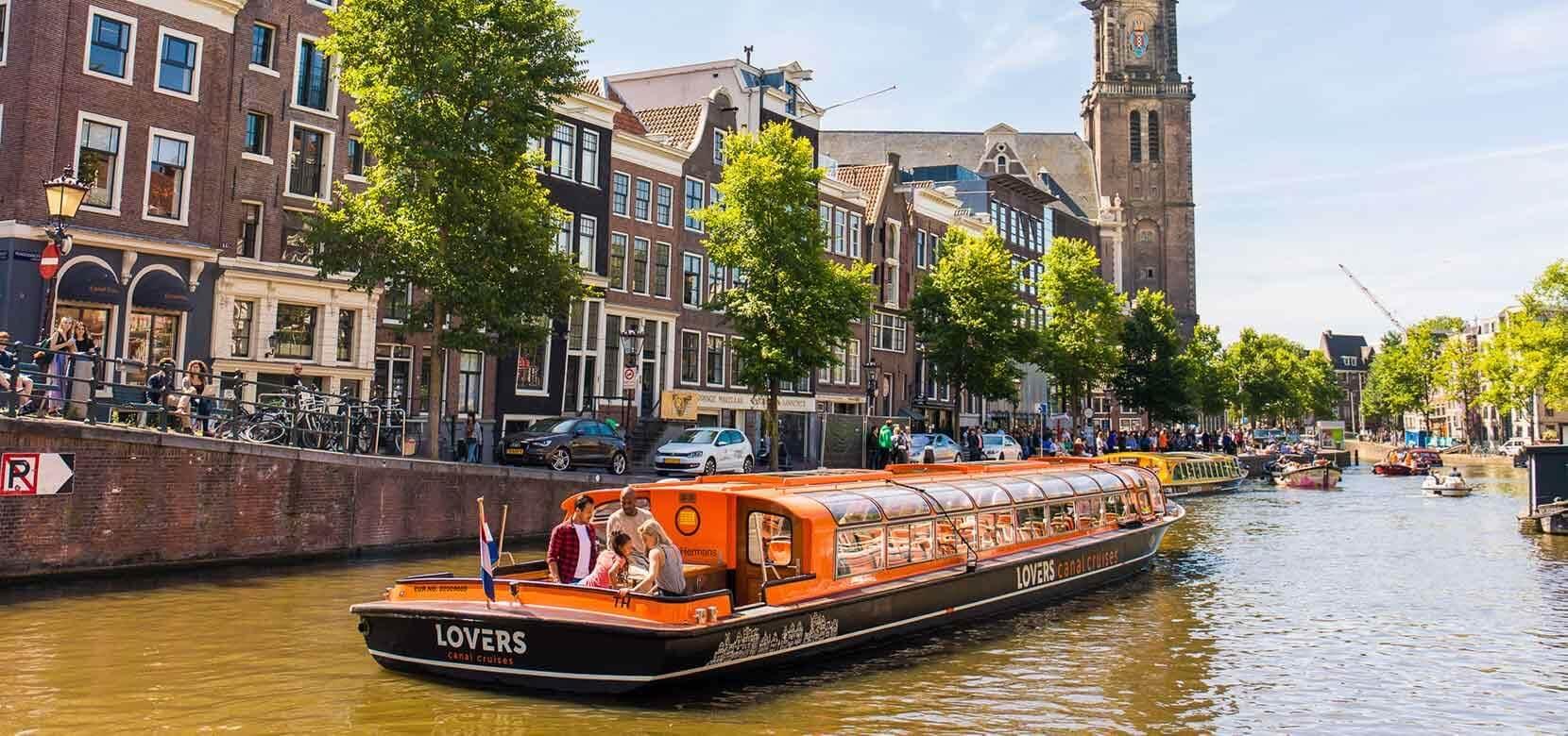 Прогулка по каналу Амстердама