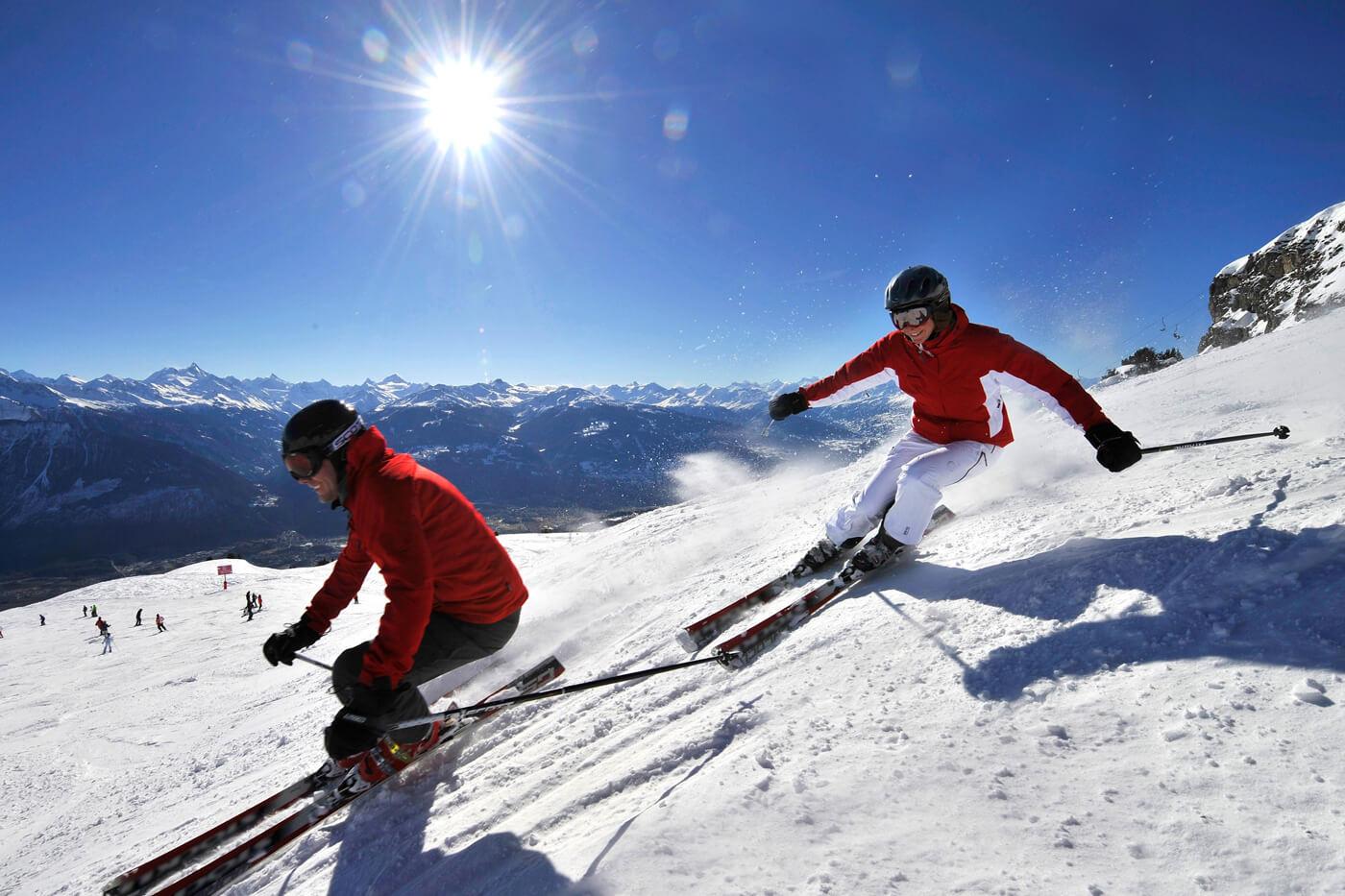 Катание на горных лыжах в Швейцарии