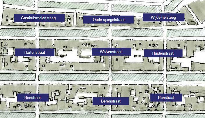 Карта района Девяти улиц