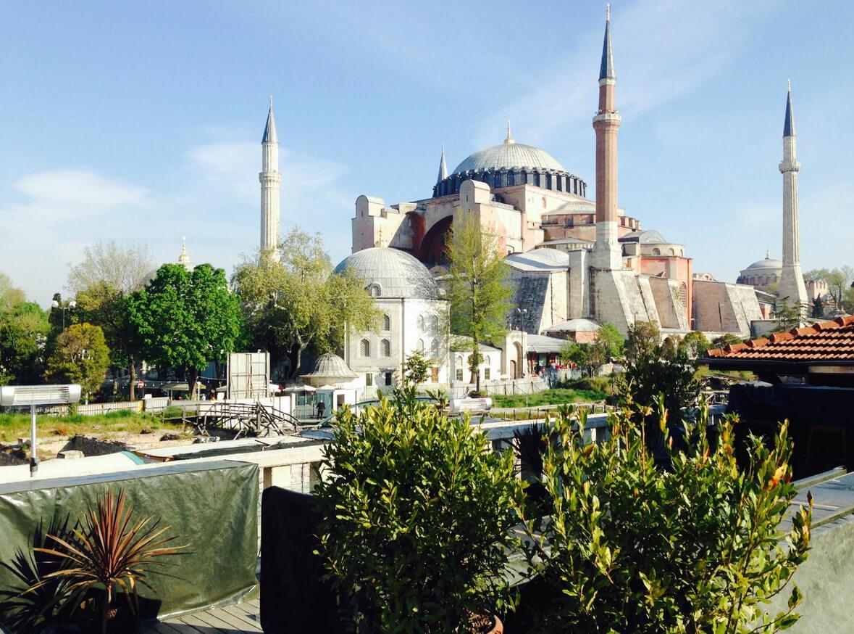 Красивая панорама из окон на Стамбул
