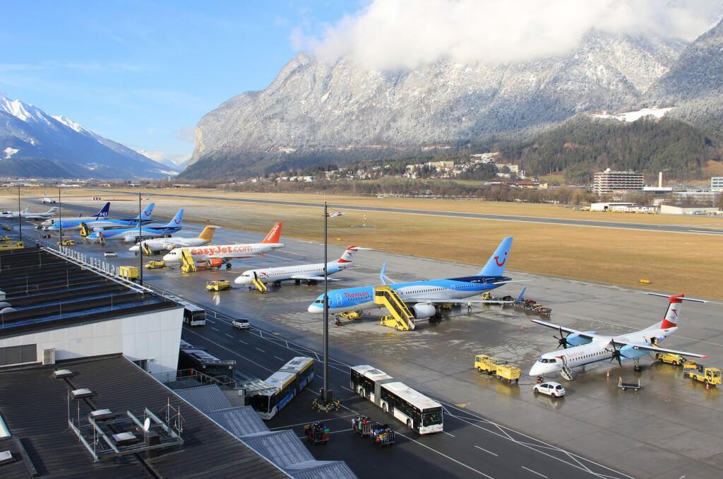 Аэропорт в городе Инсбрук
