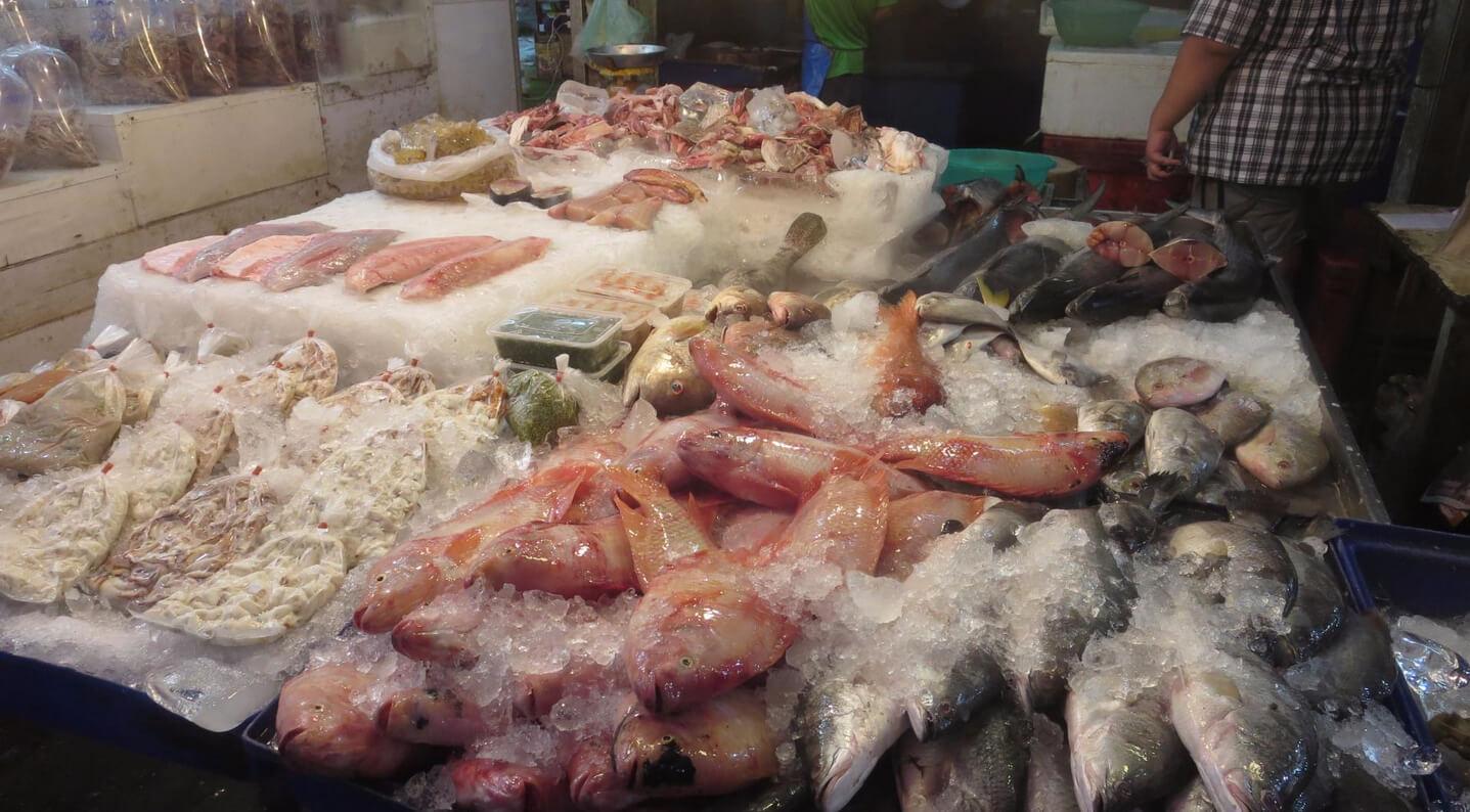 Рыбный рынок Наклуа в Паттайе