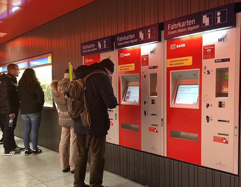 Билетные терминалы в аэропорту Мюнхена