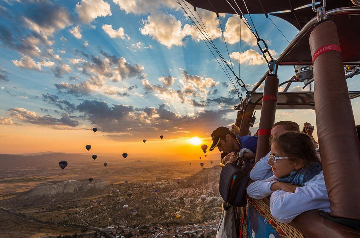 В Каппадокии на воздушном шаре