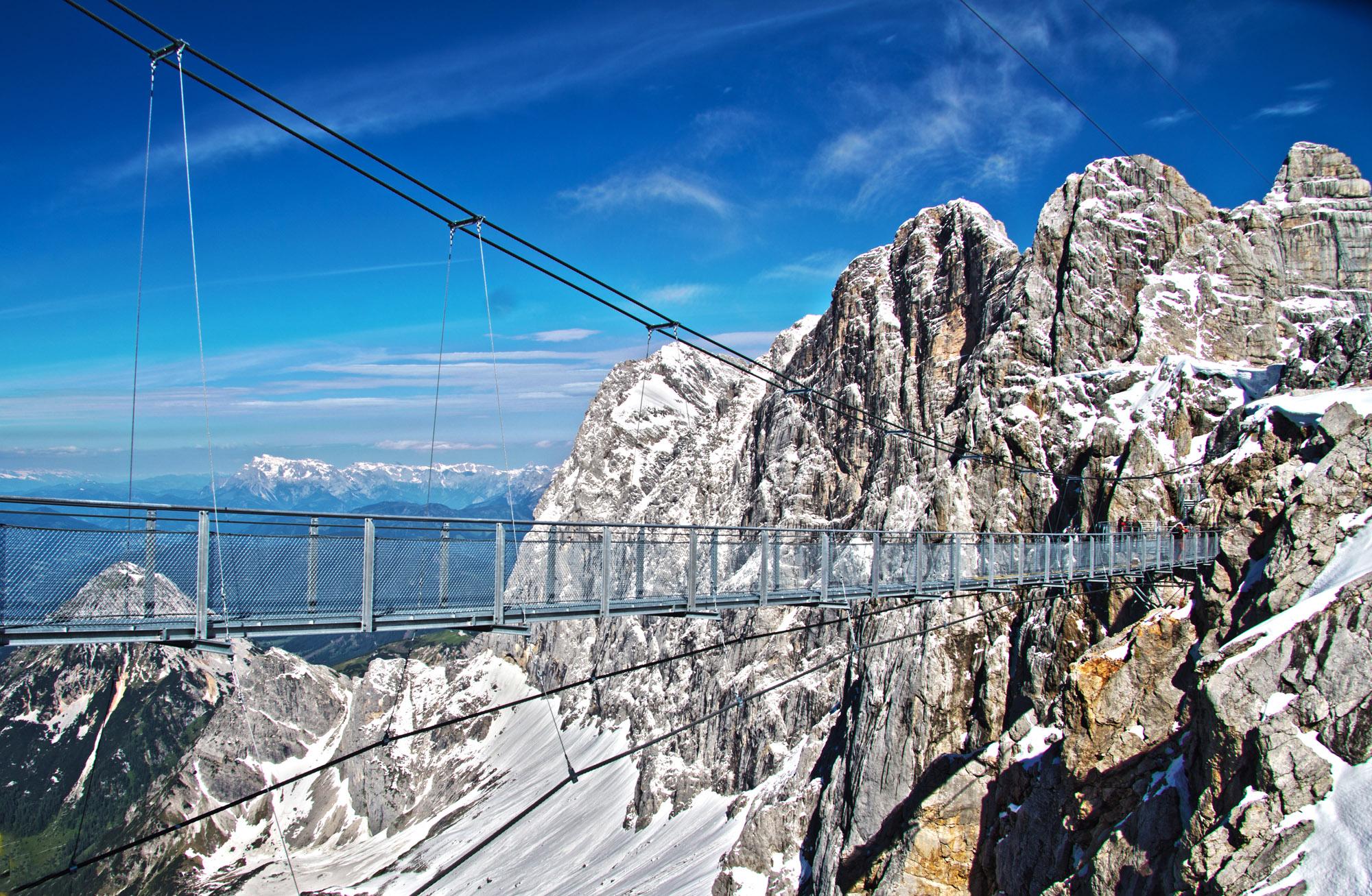 Мост над ледником Дахштайн
