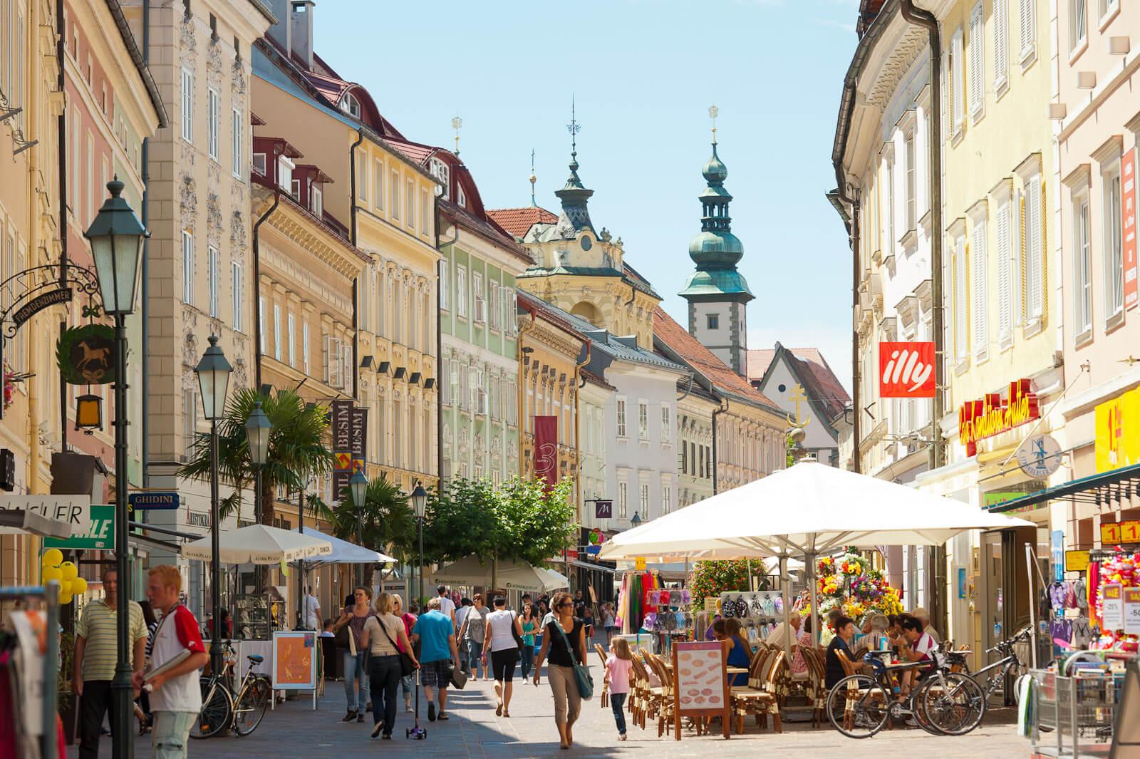 Улица города Клагенфурт